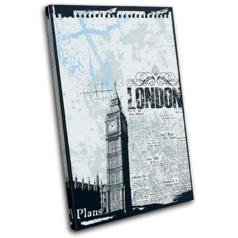 Grunge London Blue Illustration - 13-0066(00B)-SG32-PO